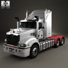 Mack Trident Axle Back High Rise Sleeper Cab Tractor Truck 2008 3D Model