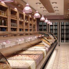 Nuts Market Interior 01 V2 3D Model