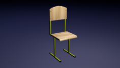 Wooden Classroom 3D Model