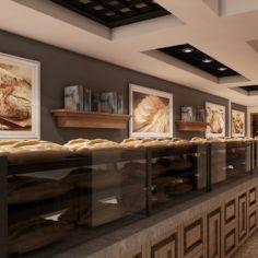 Bagel Bakery Interior 01 V1 3D Model