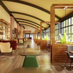 Cafe Interior 10 3D Model