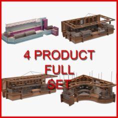 Bar Furniture Set 02 3D Model