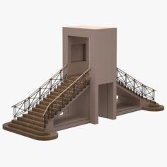 Stair 06 3D Model