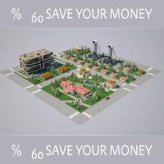 City 02 HIGHPOLY MODEL 3D Model