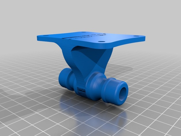 Gardena connector with wall mount 3D Print Model