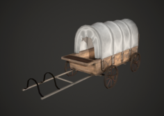 Wagon Low Poly 3D Model
