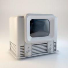 Retro TV Free 3D Model