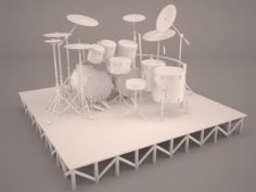 Drums-kit-big 3D Model