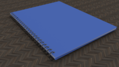 Low-Poly School Notebook 3D Model