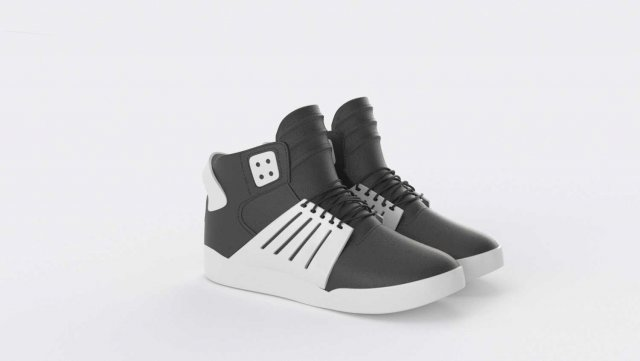 Supra Skytop 3 Shoes 3D Model