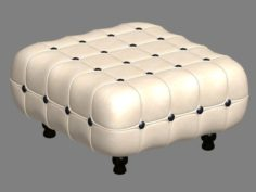 Square ottoman chair 3D Model