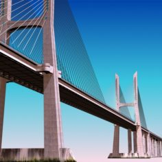 Vasco da Gama Bridge 3D Model