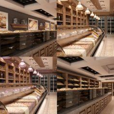 Store Interior Set 01 3D Model