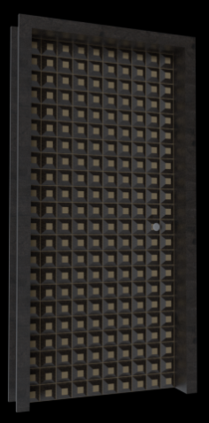 Parametric residential door 3D Model