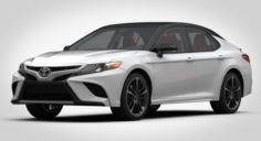 Toyota Camry XSE V6 2018 detaied interior 3D Model