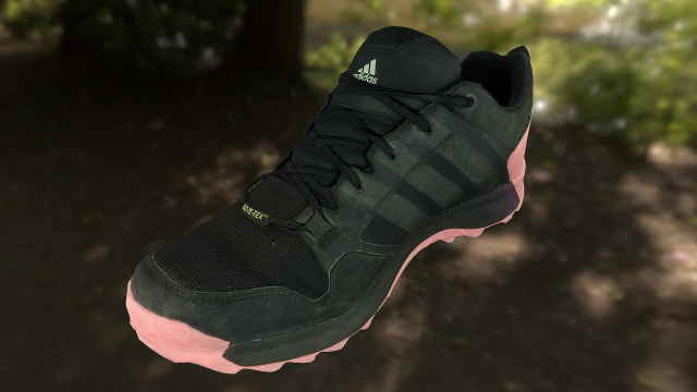 Adidas sneaker shoe low-poly 3D Model