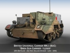 Bren Gun Carrier MKI – BUC – T12505 3D Model