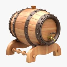 Beer Barrel 3D Model