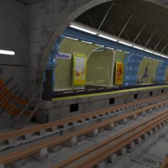 Metro station Paris 3D Model