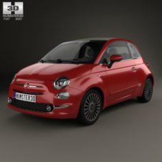 Fiat 500 C 2015 3D Model