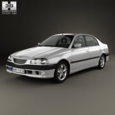 Toyota Avensis sedan 1997 3D Model