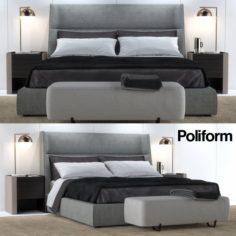 Bed Poliform Chloe Letto 3D Model