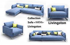 Collection Sofa Saba Livingston 3D Model