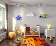 3d Interior kids bedroom 3D Model