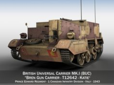 Bren Gun Carrier MKI – BUC – T12642 3D Model