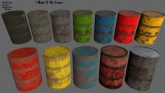 Barrel set 3D Model