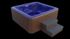 Simple Hot Tub Set 3D Model