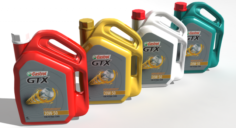 Castrol GTX Engine Oil Jar 3D Model