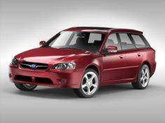 Subaru Legacy Wagon 2003 – 2009 3D Model