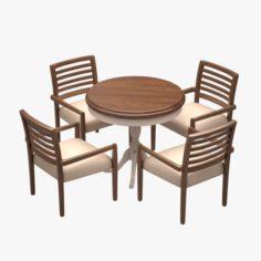 Cafe Dinner Set 09 3D Model