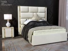 Bed Montgomery Fendi casa 3D Model