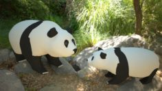 Panda low poly 3D Model