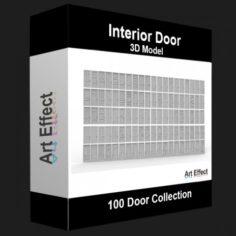 100 Door Collection 3D Model