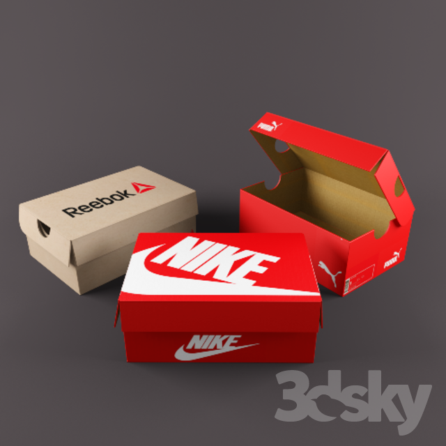 shoe boxes Free 3D Model - 3DHunt co