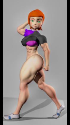 Gwen Tennyson NORMAL-MUSCLE-RIGGING 3D Model