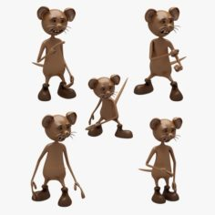 Cartoon Mouse 01-02 7 ANIMATION 3D Model