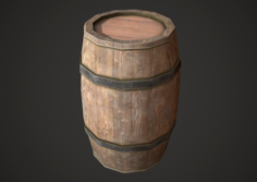 Barrel Low Poly 3D Model