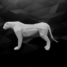 3D Printable Cheetah Model 3D Model