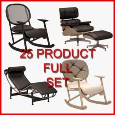 Armchair and Sofa Set 02 25 Product 3D Model