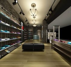 Business – Shopping Mall – Shoe Store 02 3D Model