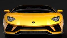 Lamborghini Aventador S 2018 3D Model