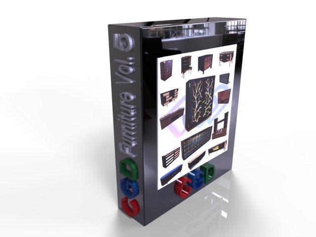 CGD Furniture VOL 5 -Cabinet – 3D Model