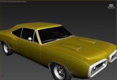 Doddge super 1970 3D Model