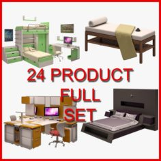 Furniture Set 01 24 Product 3D Model