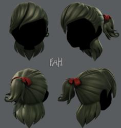 3D Hair style for girl V13 3D Model