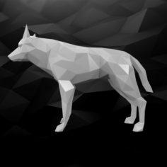 3D Printable Dog Model 3D Model